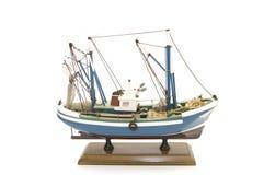 小船捕鱼设计 免版税库存照片