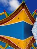 小船捕鱼马耳他 图库摄影