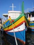 小船捕鱼马耳他 免版税图库摄影