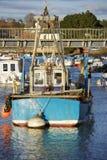 小船捕鱼 库存照片
