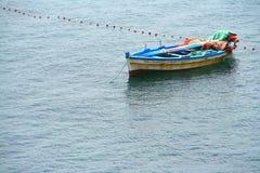 小船捕鱼 库存图片