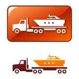 小船提供图标卡车向量 库存照片