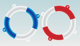 小船救护设备向量 免版税库存照片