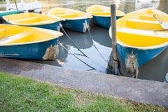 小船断开的河 图库摄影