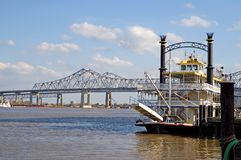小船新奥尔良河 免版税库存照片