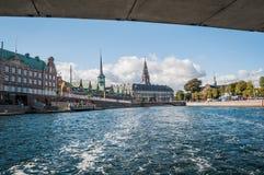 小船旅行在哥本哈根 库存照片