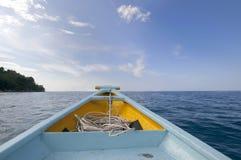 小船旅途 库存图片