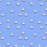 小船无缝的样式 库存图片