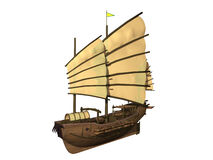 小船旧货 免版税库存图片