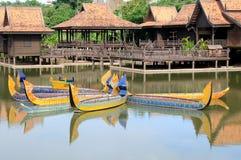 小船柬埔寨 免版税库存照片