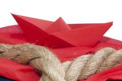 小船格式制造origami纸张模式向量 免版税库存照片