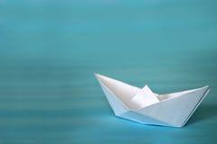 小船格式制造origami纸张模式向量 免版税图库摄影