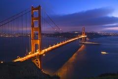 小船桥弗朗西斯科门金黄圣 免版税库存照片