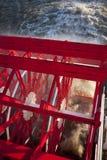 小船桨蒸汽轮子 库存照片