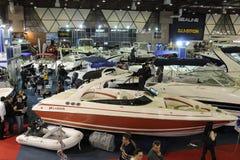 小船欧亚大陆显示 免版税图库摄影