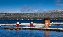 小船气泵冬天 库存照片