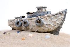小船沙子 免版税图库摄影