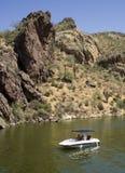 小船沙漠 库存照片