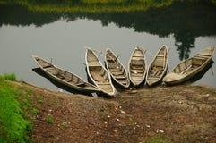 小船河 免版税库存照片