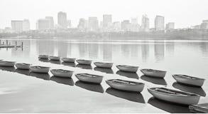 小船波士顿 库存照片
