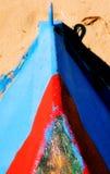 小船波多里哥沙子 免版税库存图片