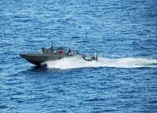 小船海军巡逻 免版税库存照片