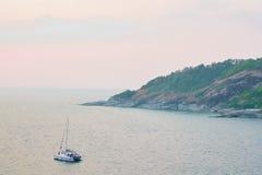 小船海天空 库存图片