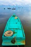 小船渔夫火腿ninh turqoise vietna 免版税库存图片