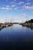 小船港口挪威奥斯陆 图库摄影