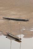 小船湄公河河床二 库存图片