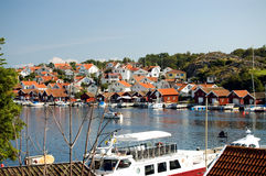 小船湖瑞典 免版税库存照片