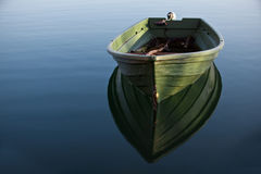 小船湖行 库存图片