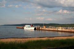 小船湖被停泊的主管 免版税库存图片