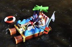小船滑稽的种族 免版税库存图片