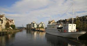 小船爱丁堡leith岸 免版税库存图片