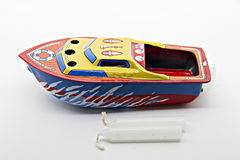 小船玩具 库存照片