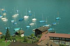 小船瑞士 库存图片