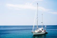 小船白色 库存照片