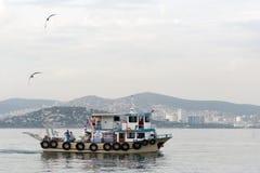 小船的人们 图库摄影