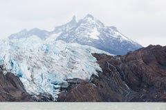 从小船的冰川灰色 库存图片