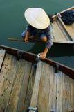 小船的卖主 免版税库存照片
