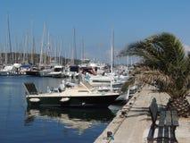 小船的图象在口岸,港格里莫的 库存图片