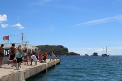 小船的码头 库存照片