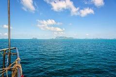 小船的船首在海的 库存照片