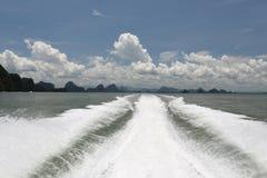 从小船的视图 泰国 库存图片