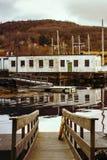 小船着陆, Fosnavaag,风景 免版税库存照片