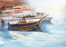 小船码头威尼斯 皇族释放例证