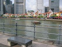 小船码头新加坡 库存图片