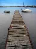 小船码头 免版税库存照片