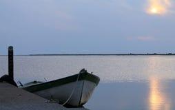 小船码头威尼斯 图库摄影